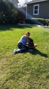 Diane & Chiachi front yard